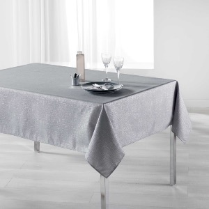 Palacio Nappe rectangle imprimé argent gris 150x240 cm