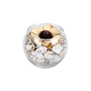 POT POURRI VERRINE SENTEUR MURES SAUVAGES WINTER BLUSH BLANC