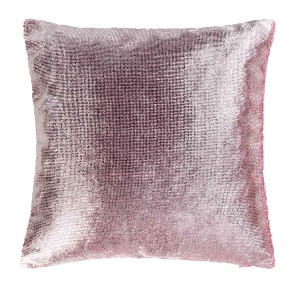 Housse de coussin Collection velours brillant ROSE 40 x 40 cm
