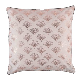 COUSSIN IMPRIME METALLISE GOLDY ROSE/ANTHRACITE 40X40 CM