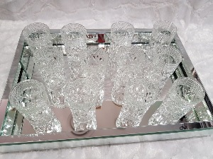 COFFRET DE 12 VERRES A THE EN VERRE TRANSPARENT 9,5 X 6 CM