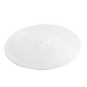 SET DE TABLE ROND UNI BLANC DIAM 38 cm