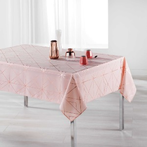 Quadris Nappe rectangle imprimé métallisé rose/or rose 150x240 cm