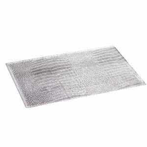 SET DE TABLE CROCO ARGENT 30 x 45 CM