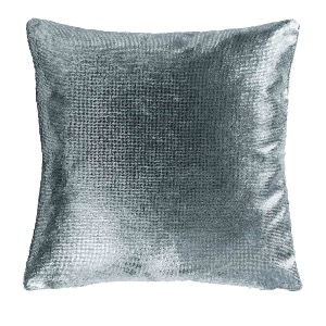 Housse de coussin collection velours GRIS 40 x 40 cm