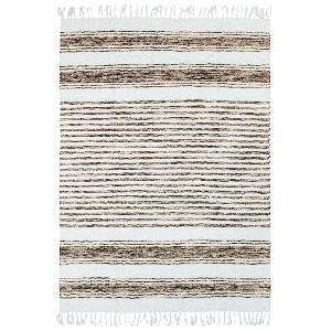 TAPIS TERRA COTTON 120x170 SABLE BLANC LIGNE