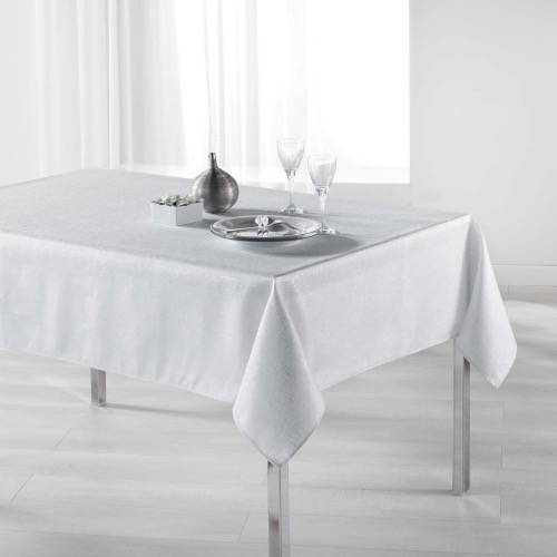 Palacio Nappe rectangle imprimé argent blanc 150x240 cm