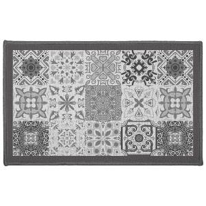 TAPIS RECTANGLE  57 X 80 CM IMPRIME PERSANE GRIS