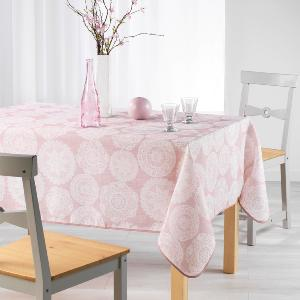 ANAIS Nappe Rectangle 150x240 cm Fils Coupés Imprimé Anais Rose