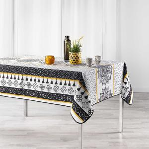 MERIDIANA Nappe Rectangle 150x240 cm Polyester Imprimé Meridiana Blanc