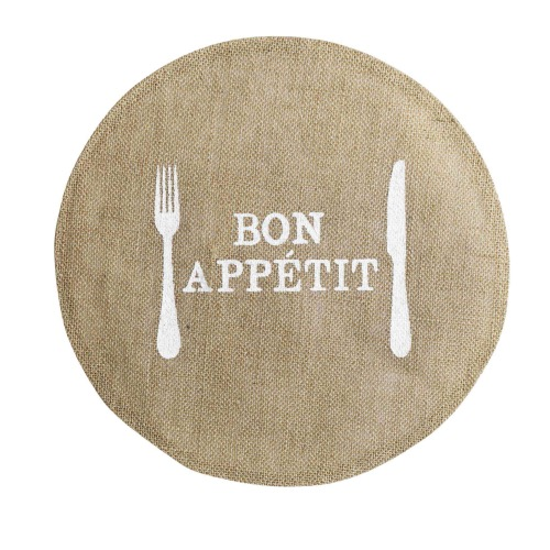 SET DE TABLE ROND JUTE APPETITO DIAM 38 cm