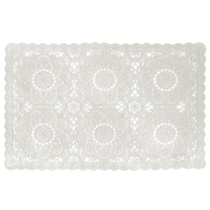 DENTELIA blanc Set de table 30 x 45 cm