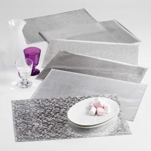 SET DE TABLE DIABOLO ARGENT 30 x 45 CM