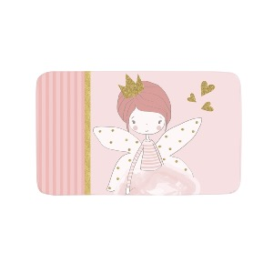 TAPIS RECTANGLE VELOURS KIDS ROSALINE 45 X 75 CM