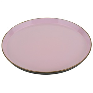 Plateau rose, d. 35 cm